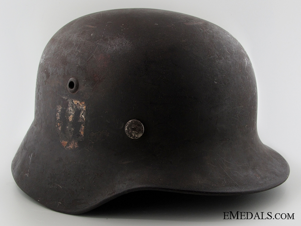 eMedals-A Named Double Decal M35 SS Helmet Consignment Brent Saigon
