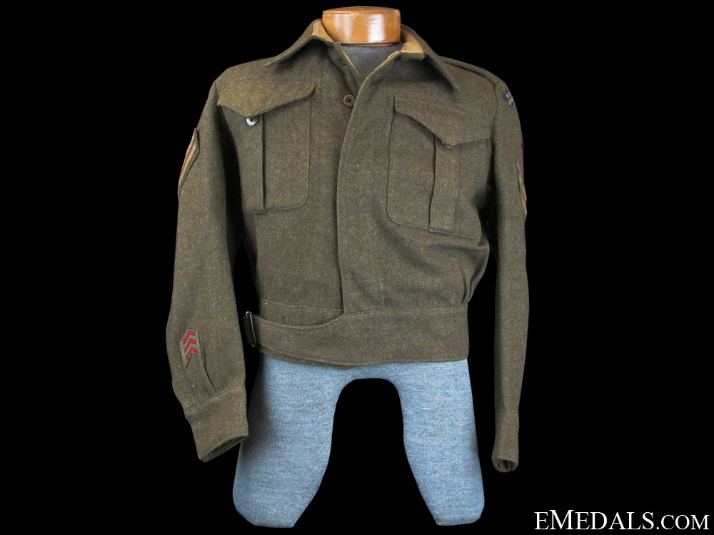 eMedals-A Named WWII Canadian Battledress