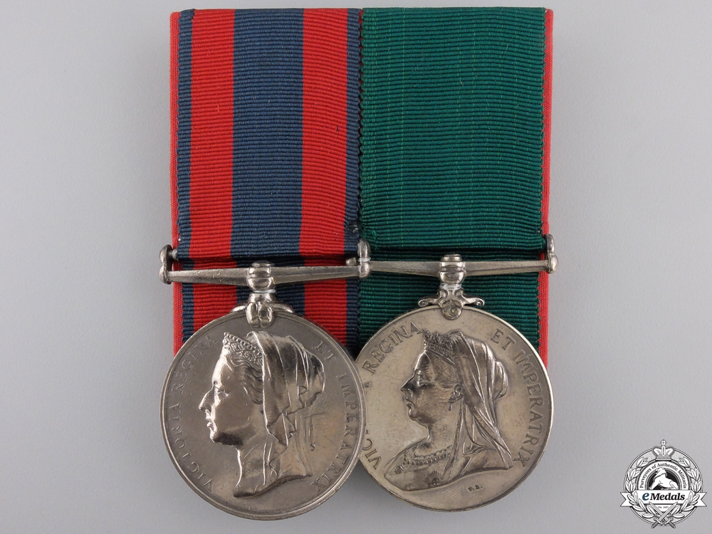 eMedals-A North West Canada Service Pair to the Montreal Garrison Artillery