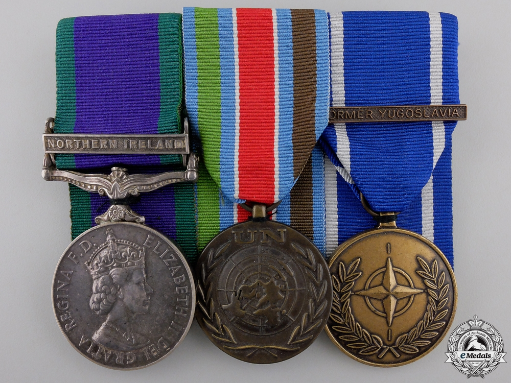 eMedals-A Northern Ireland & Yugoslavia Group to the Royal Anglian Regiment