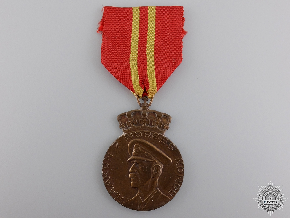 eMedals-A Norwegian King Haakon's 70th Anniversary Medal