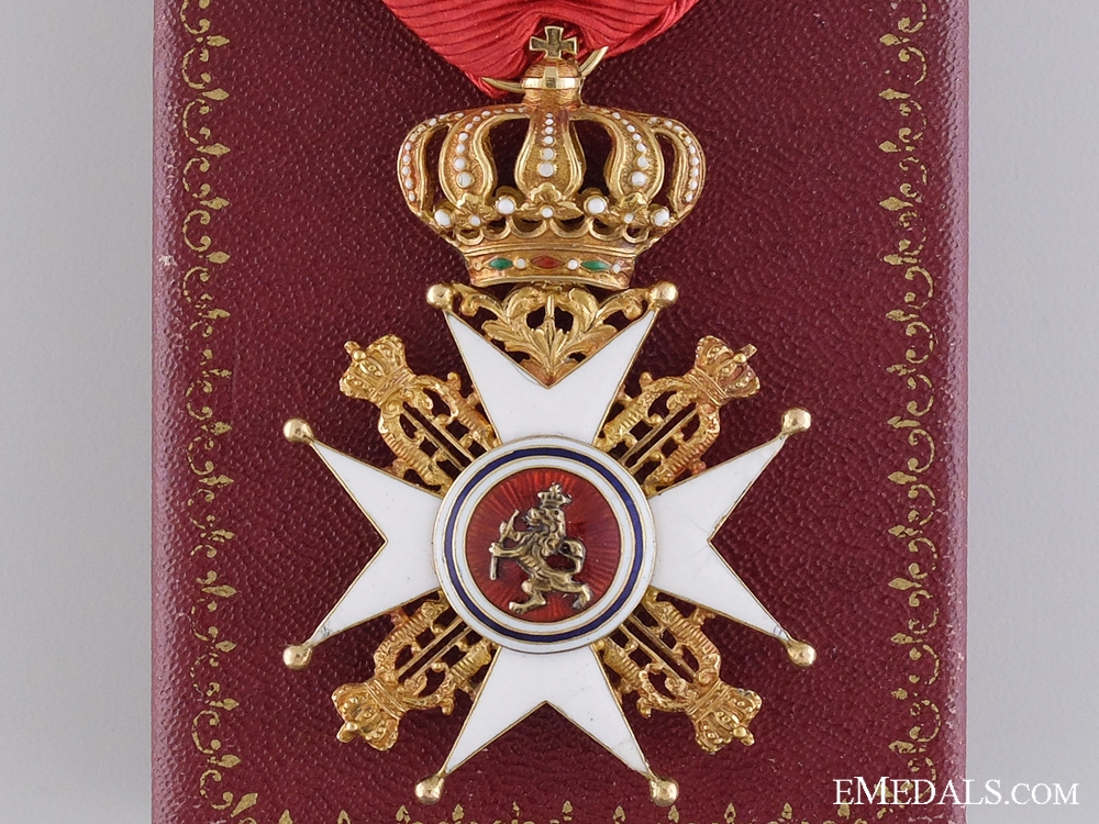 eMedals-A Norwegian Order of St. Olaf in Gold; Knight First Class (1847-1906)