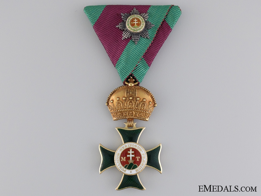 eMedals-A Order of St. Stephen in Gold with GC Klein Decoration