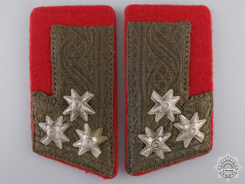 eMedals-A Pair of Croatian Home Army Collar Tabs; Colonel