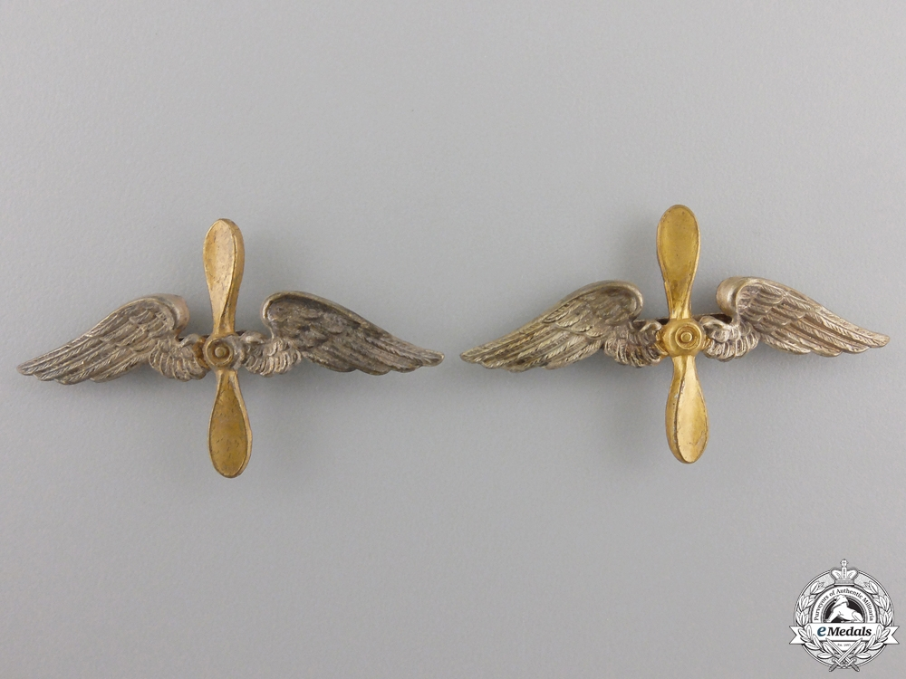 eMedals-A Pair of German Imperial Shoulder Board Insignia for a Fliegertruppe