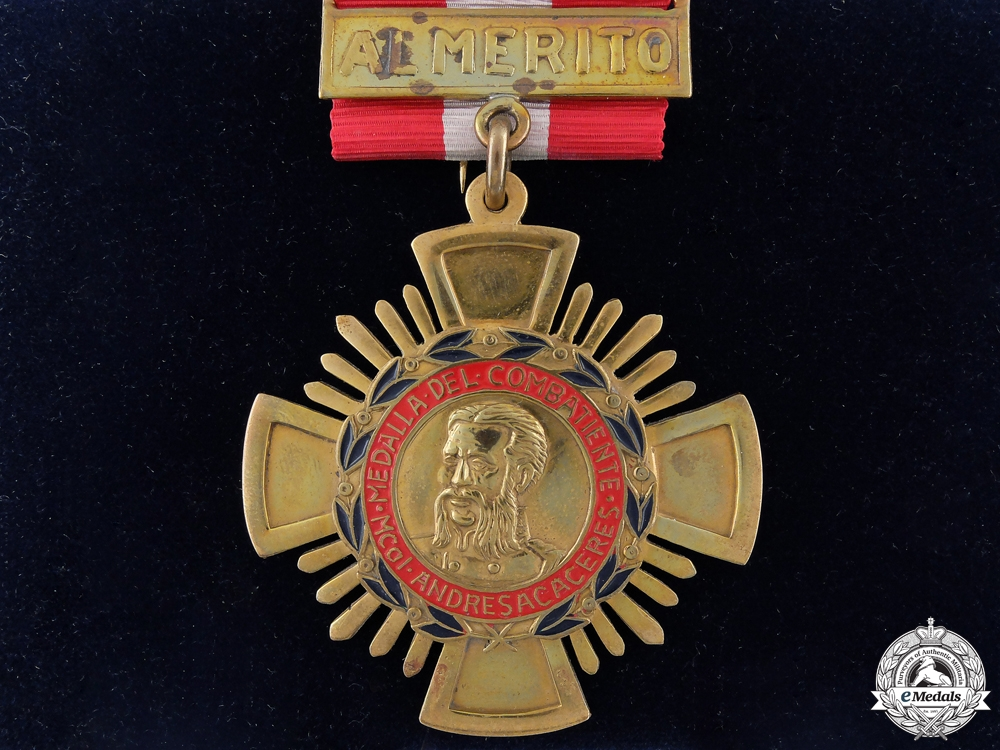 eMedals-A Peruvian Order of Military Combatants; Andres Avelino Caceres