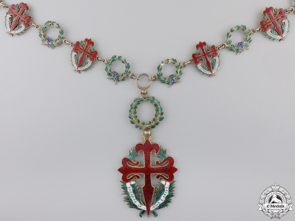 eMedals-A Portuguese Military Order of St. James of the Sword; Collar