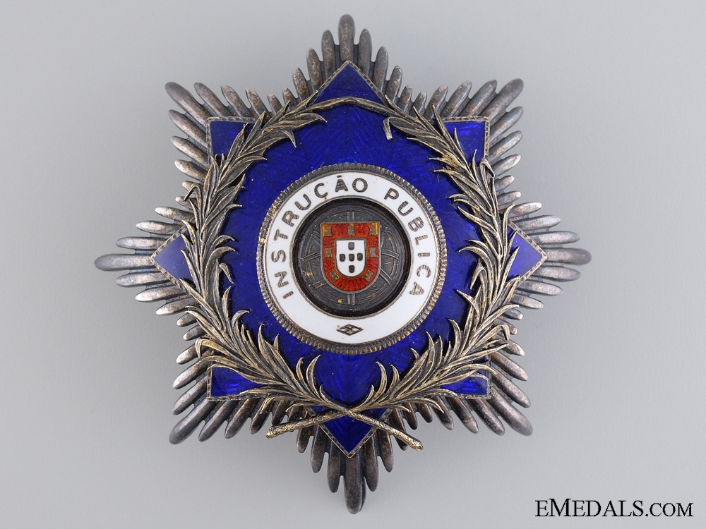 eMedals-A Portuguese Order for Public Instruction; Breast Star