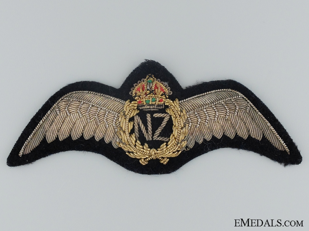 eMedals-A Pre Second War NZAF Officer's Breast Wing