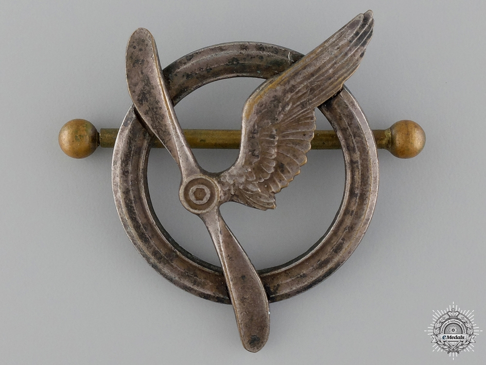eMedals-A Pre WWII French Air Force Gunner Badge