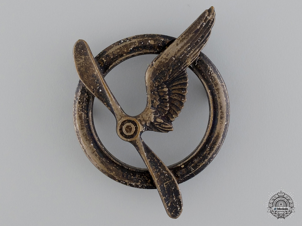 eMedals-A Pre-WWII French Air Force Gunner Badge