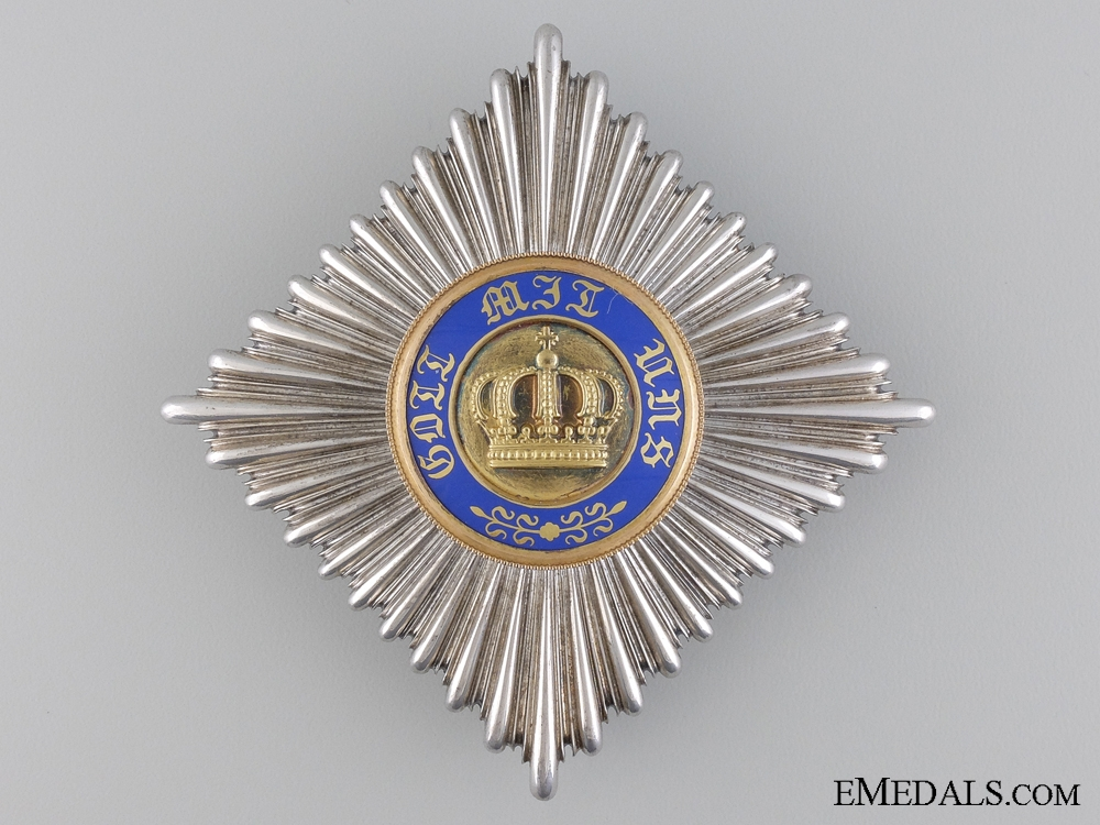 eMedals-A Prussian Crown Order; Breast Star by Wagner