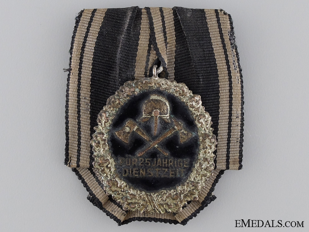 eMedals-A Prussian Firefighters Twenty-Five Year Service Medal