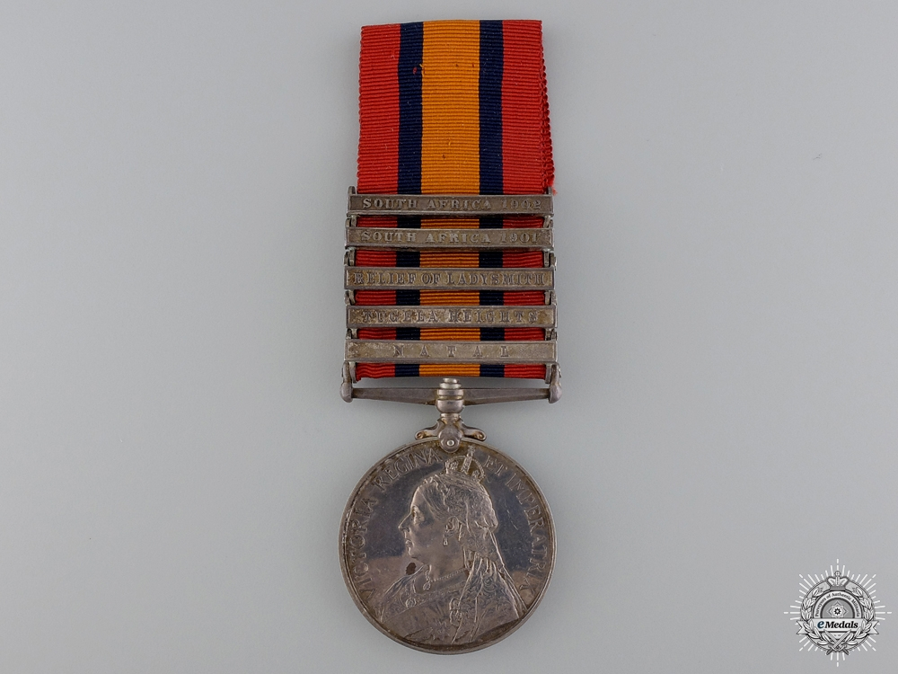eMedals-A Queen's South Africa Medal to the South Lancashire Regiment