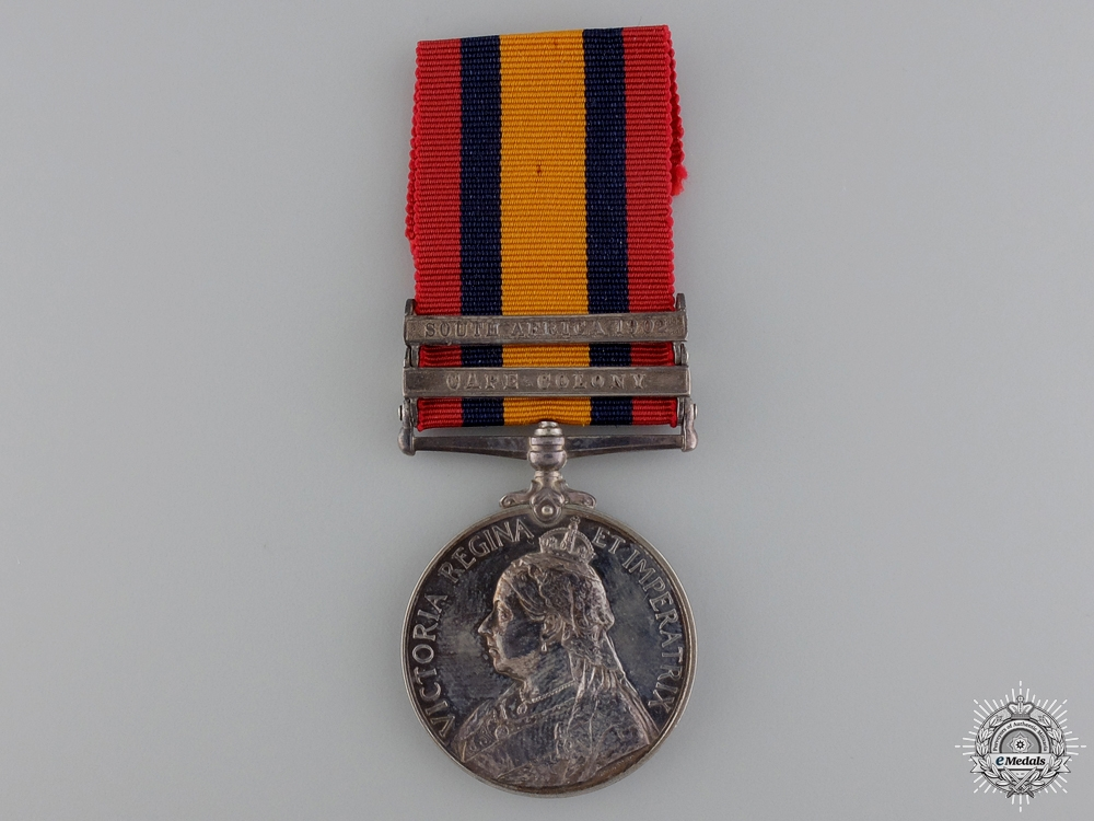 eMedals-A Queen's South Africa Medal to the York & Lancashire Regt.