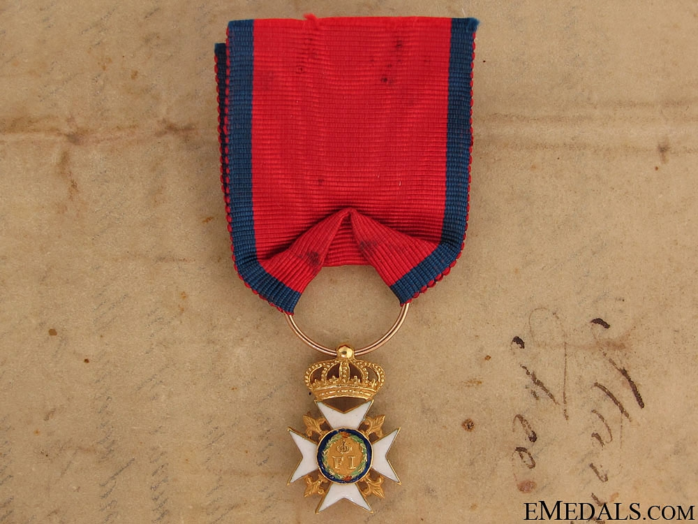 eMedals-A Rare 1830's Royal Order of Francis I in Gold