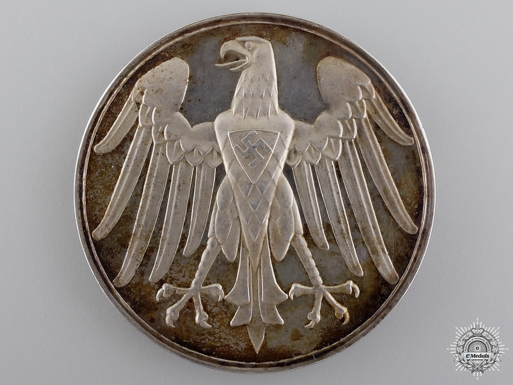 eMedals-A Rare 1937 German Life Saving Medal in Silver