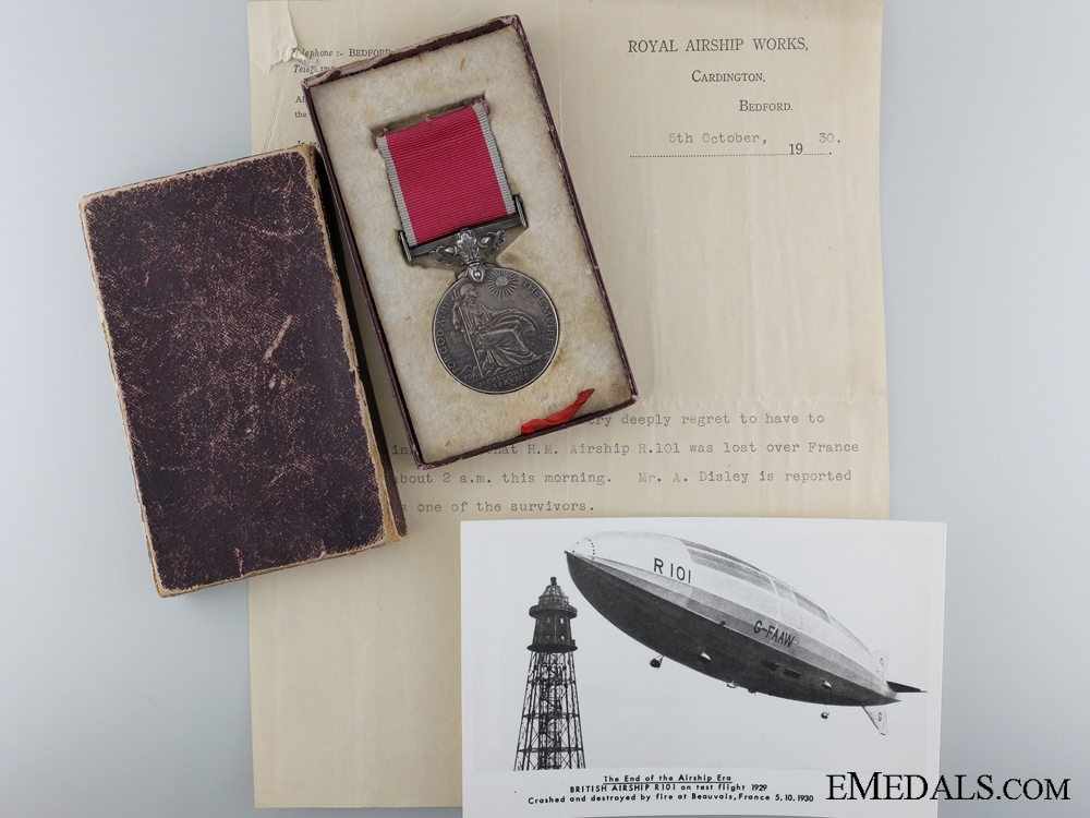 eMedals-A British Empire Gallantry Medal Awarded for the R.101 Disaster