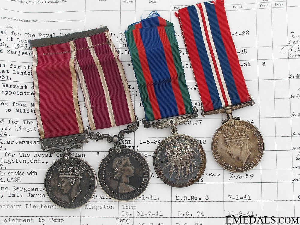 eMedals-A Rare Canadian Long & Meritorious Service Pair