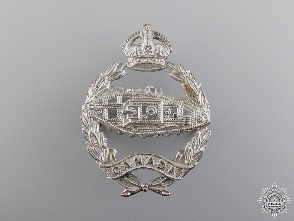 eMedals-A Rare Canadian Armoured Corps Officer's Cap Badge  Consignment 14