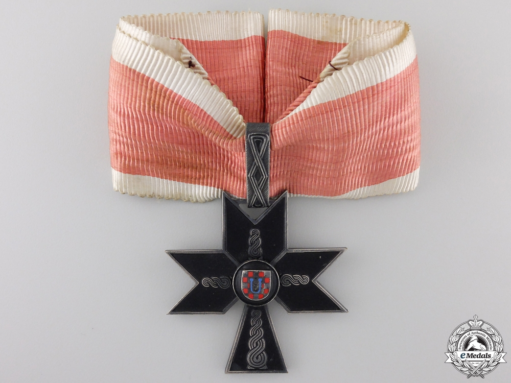 eMedals-A Croatian Order of the Iron Trefoil; First Class