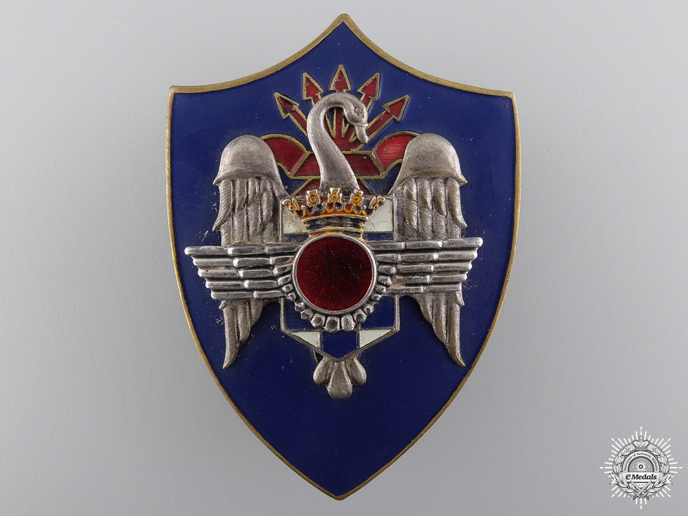 eMedals-A Rare Franco Air Force Academy Badge; Elite Officers Version