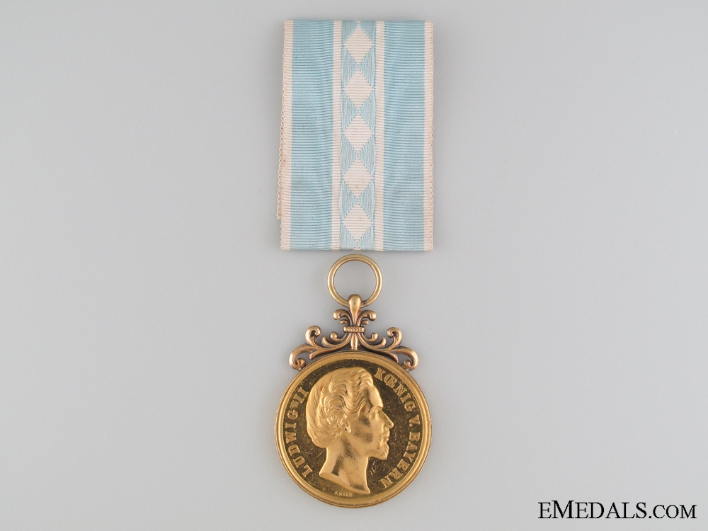 eMedals-A Rare Gold Bavarian Medal for the Arts and Sciences