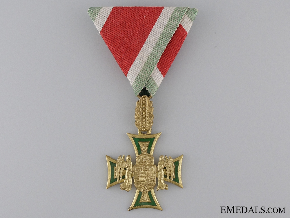 eMedals-A Rare Hungarian 35/40 Year Long Service Cross  Consignment: 13