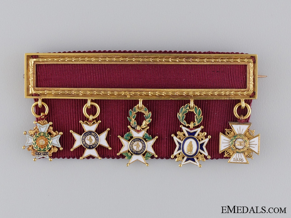 eMedals-A Rare Miniature Group to a British Officer in the Carlist War