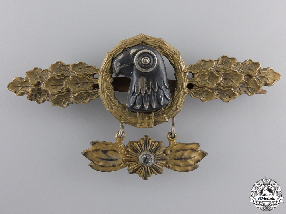 eMedals-A Reconnaissance Squadron Clasp; Gold Grade with Hanger