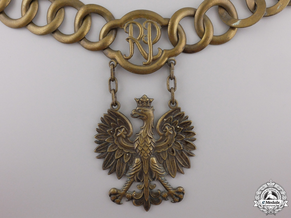 eMedals-A Republic of Poland Government Official's Collar Chain