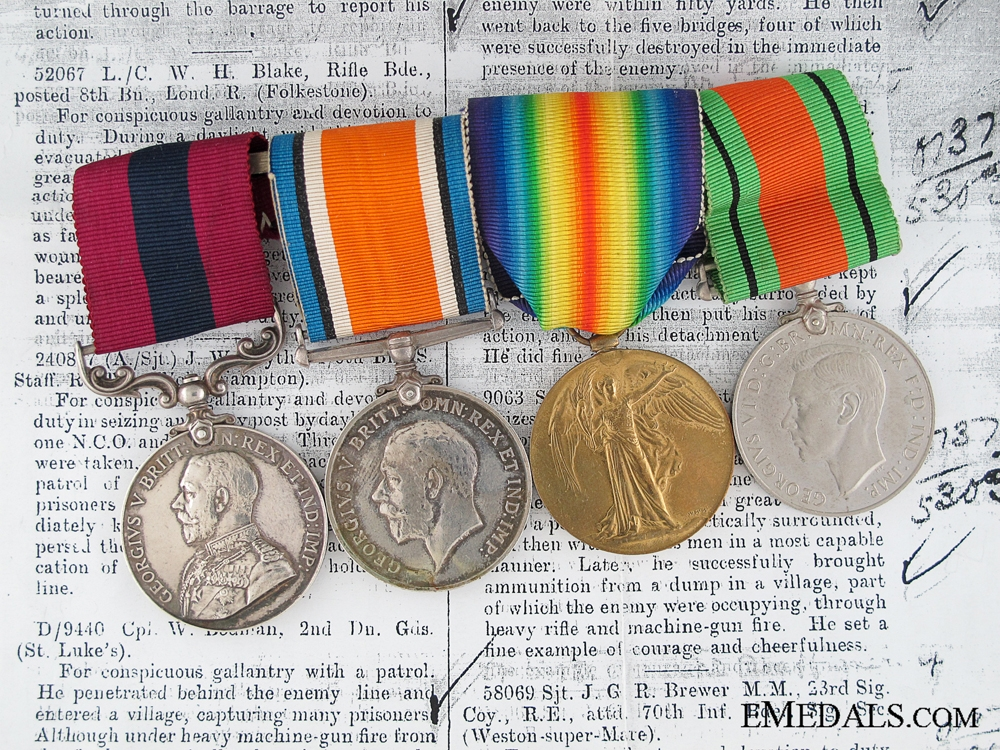 eMedals-A Rifle Brigade DCM for 1918 Daylight Raid