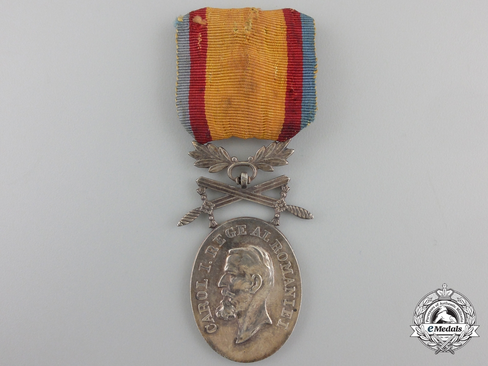 eMedals-A Romanian Medal for Manhood and Loyalty; 2nd Class