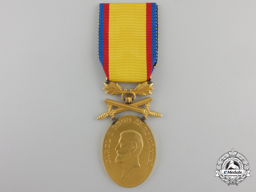 eMedals-A Romanian Medal for Manhood and Loyalty; 1st Class