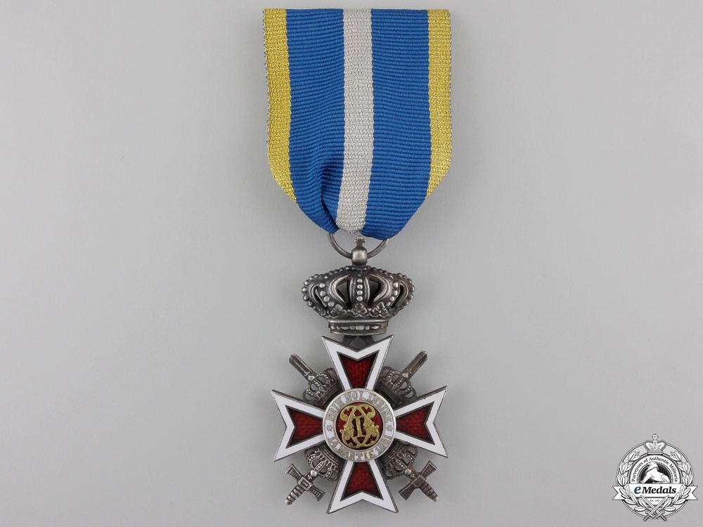 eMedals-A Romanian Order of the Crown with Swords; Type II