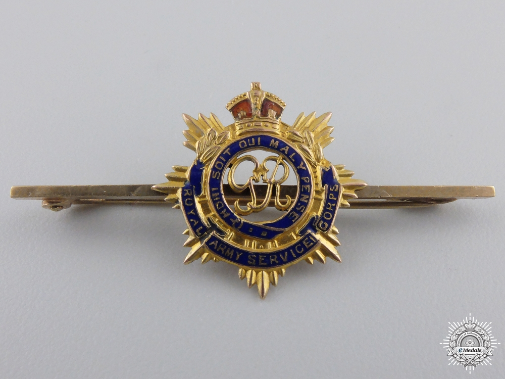 eMedals-A Royal Army Service Corps Sweetheart Badge in Gold