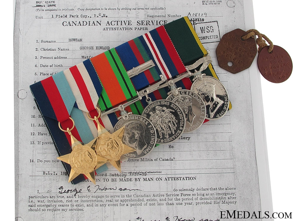 eMedals-A Royal Canadian Engineers Dieppe Casualty Group