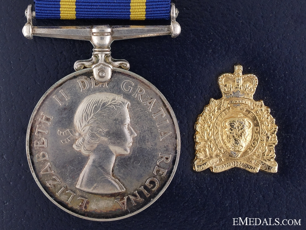 eMedals-A Royal Canadian Mounted Police Long Service Medal to Morin