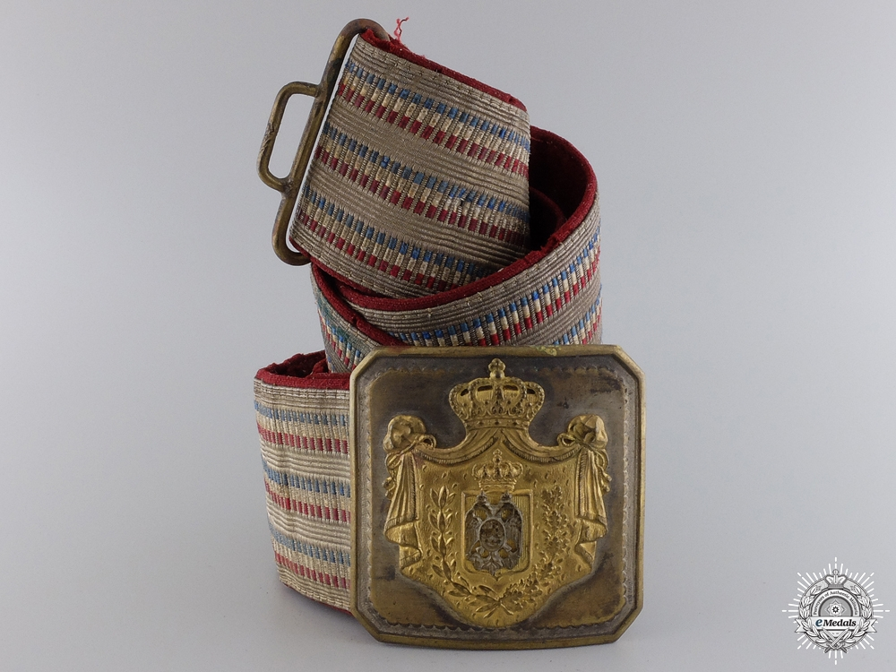 eMedals-A Royal Yugoslavian Officer's Belt and Buckle by Sorlini Varazdin