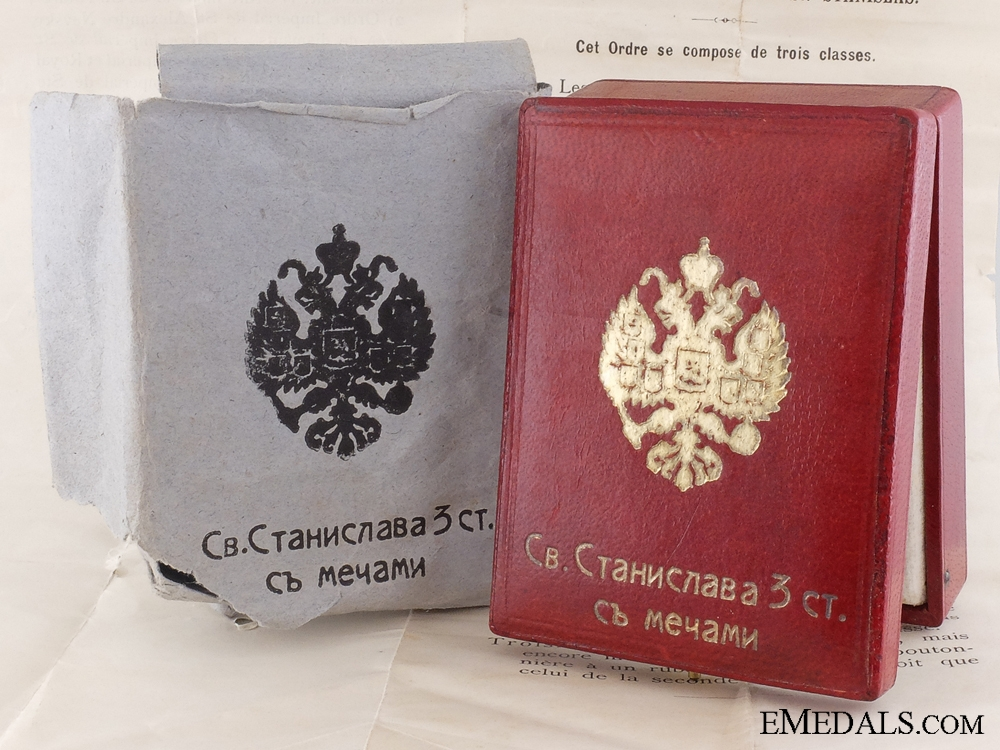 eMedals-A Russian Order of St. Stanislaus Case with Outer Cartonage