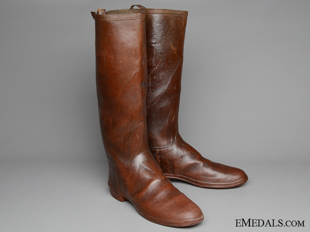 eMedals-A Scarce Pair of First War CEF Officer's Rubber Trench Boots