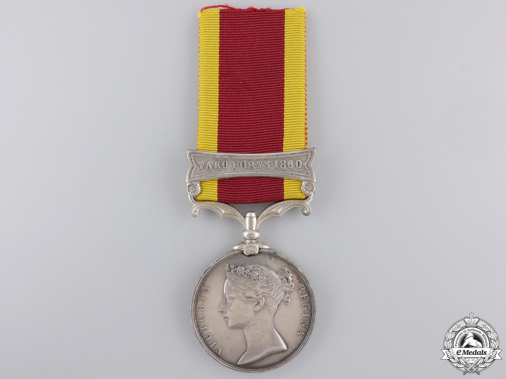 eMedals-A Second China War Medal 1857-1860 for Taku Forts