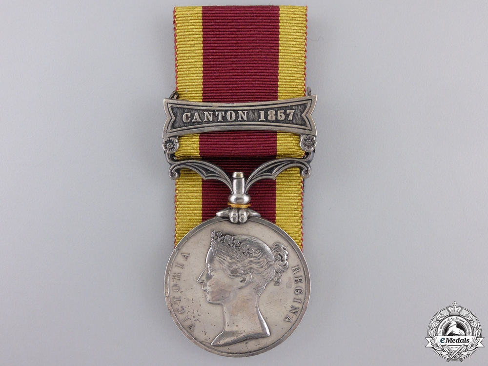 eMedals-A Second China War Medal for Canton 1857