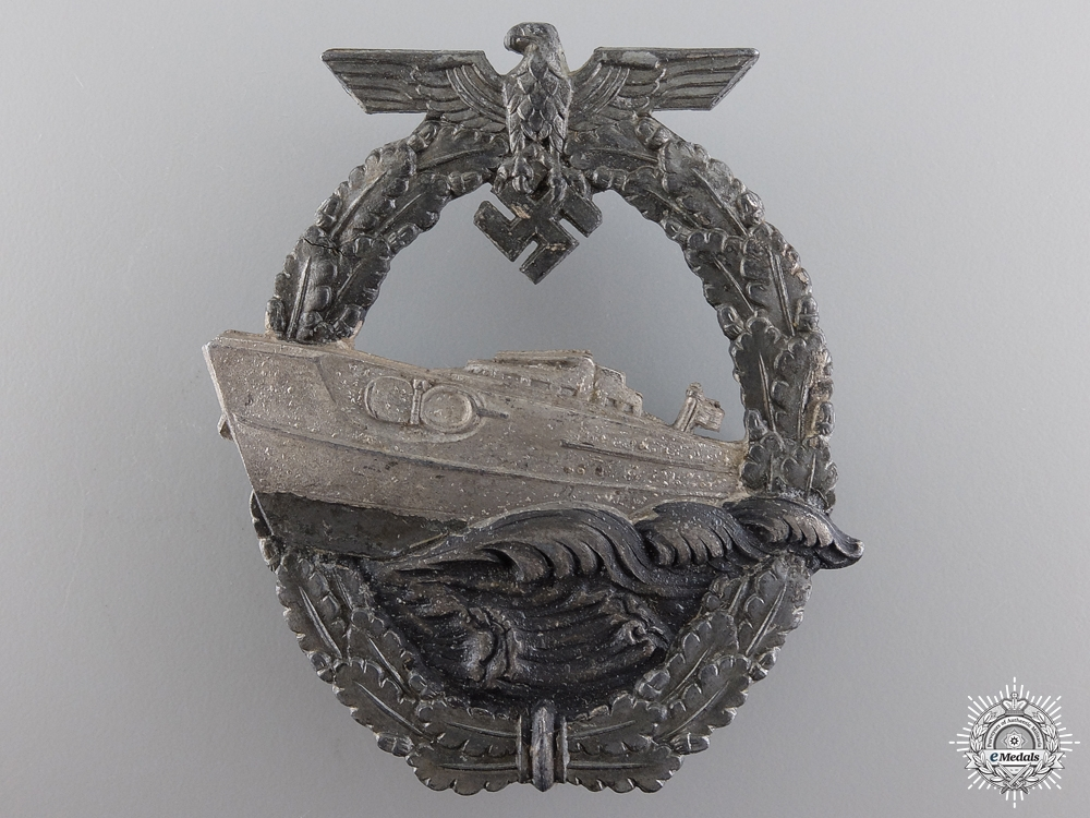 eMedals-A Kriegsmarine Second Pattern E-Boat Badge