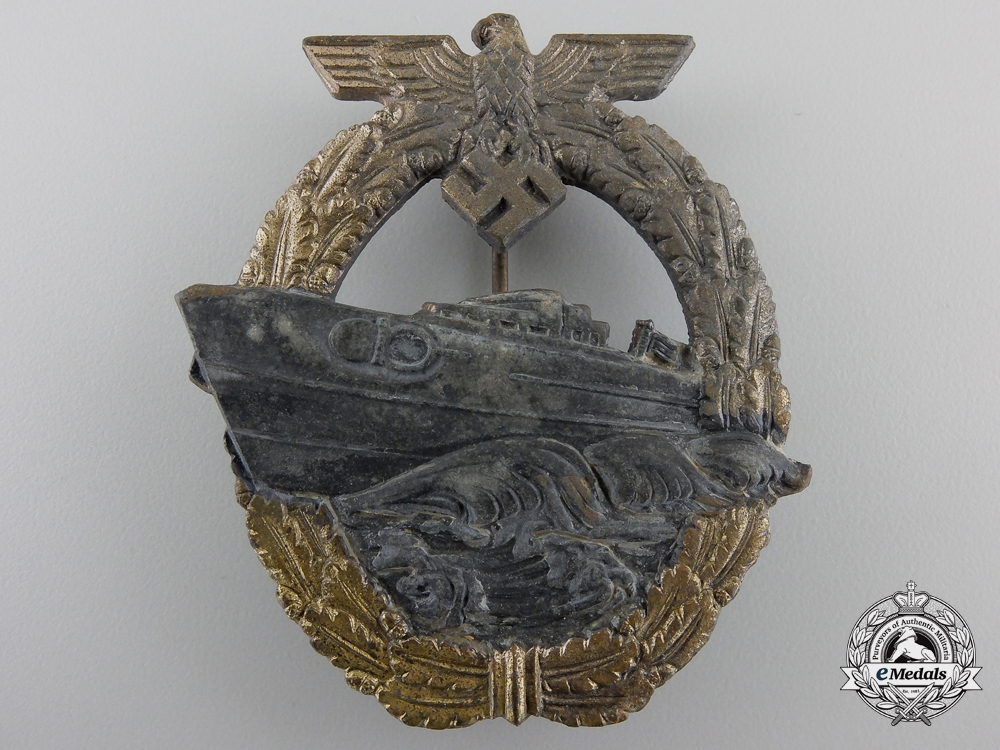 eMedals-A Second Pattern German E-Boat Badge by R. Souval