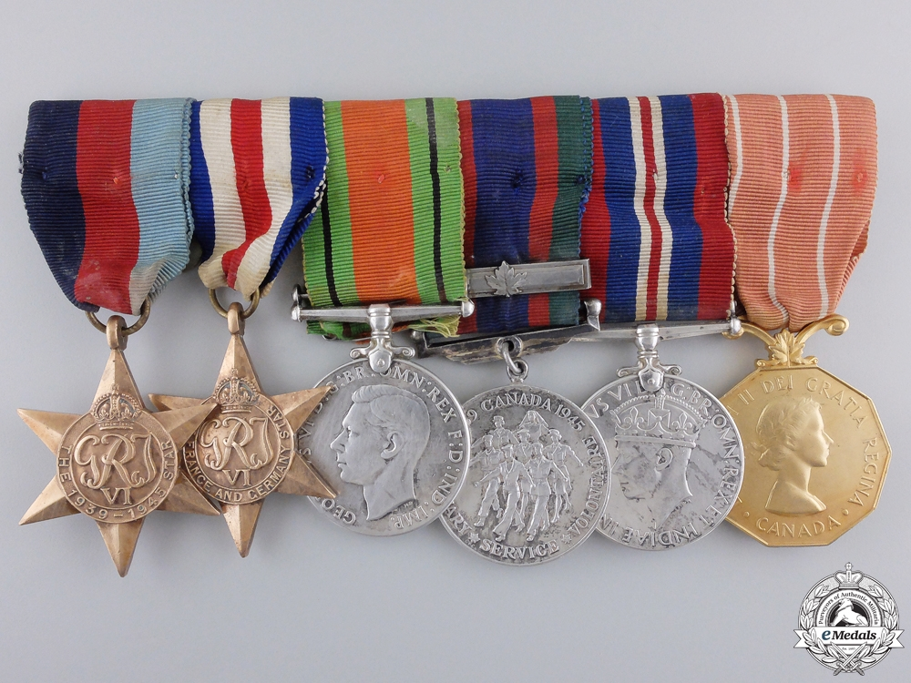eMedals-A Second War & Canadian Forces Decoration Group