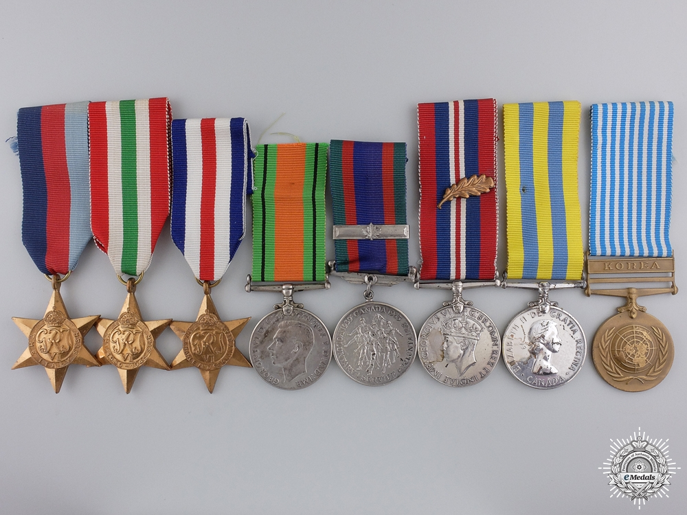 eMedals-A Second War & Korea Medal Group to Captain McDiarmid