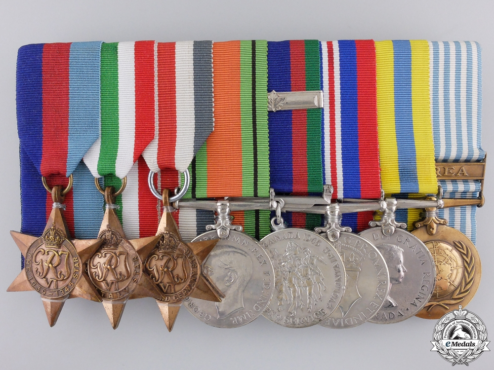 eMedals-A Second War & Korean War Medal Group to the Canadian Army
