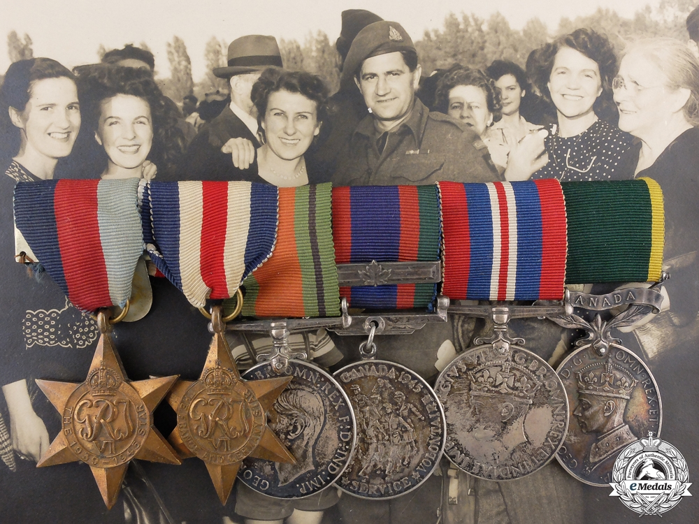 eMedals-A Second War  Medal Bar to the Royal Canadian Signal Corps