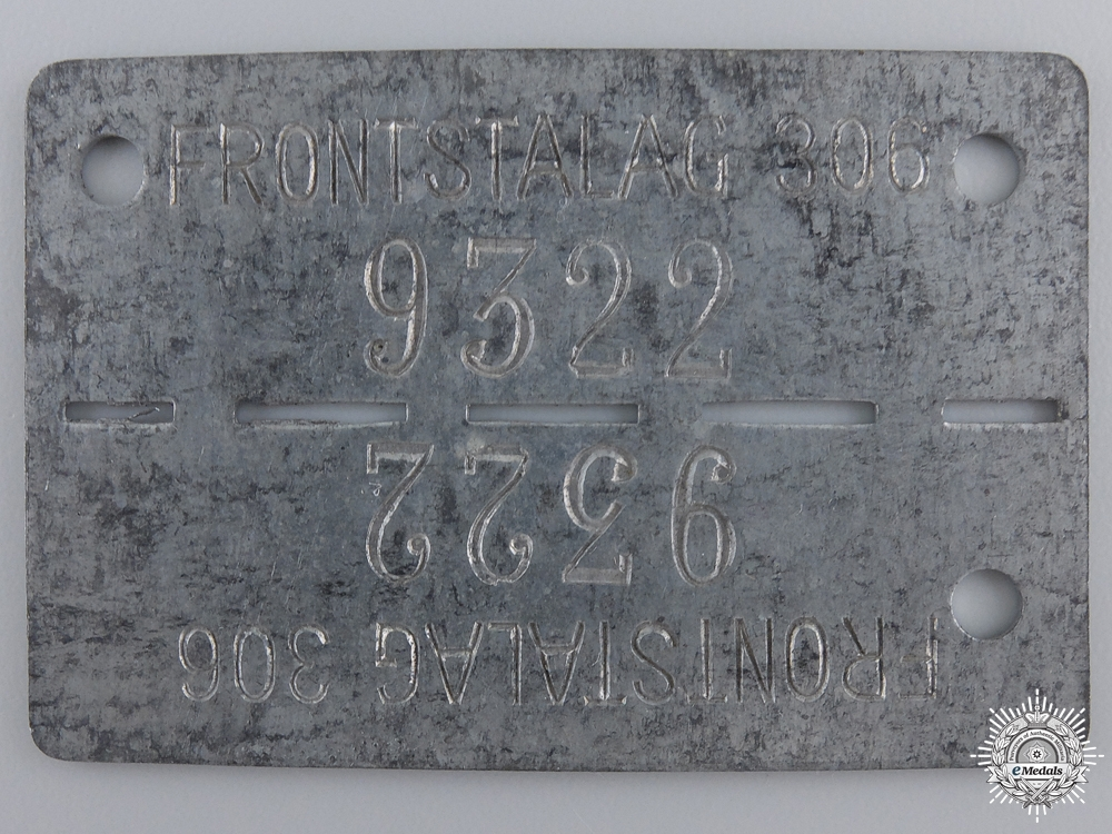 eMedals-A Second War Allied POW ID Tag; Frontstalag